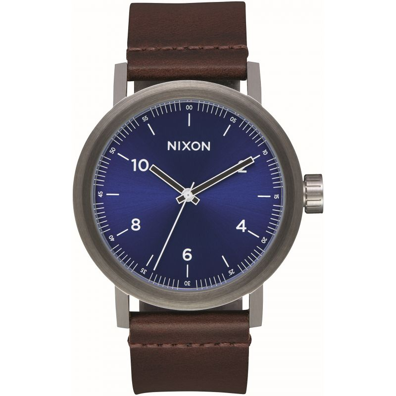Mens Nixon The Stark Leather Watch from Nixon
