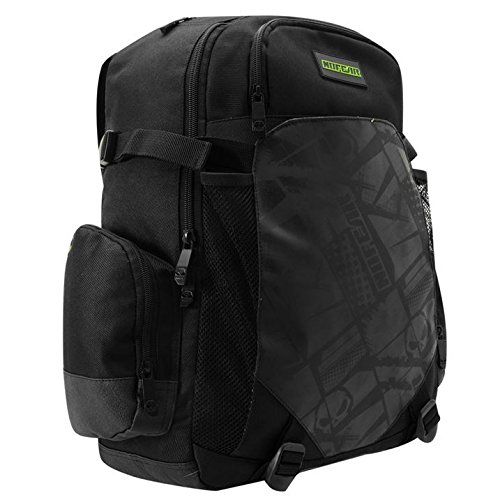 No Fear MX Backpack Rucksack Padded Laptop Section Back Straps Headphone Outlet from No Fear