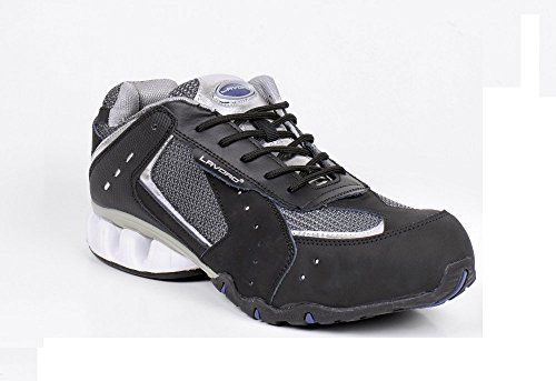 No-Risk RUN-SILVER-9 Run, Safety Trainer, S1P, Black Silver, Size 9 from No-Risk