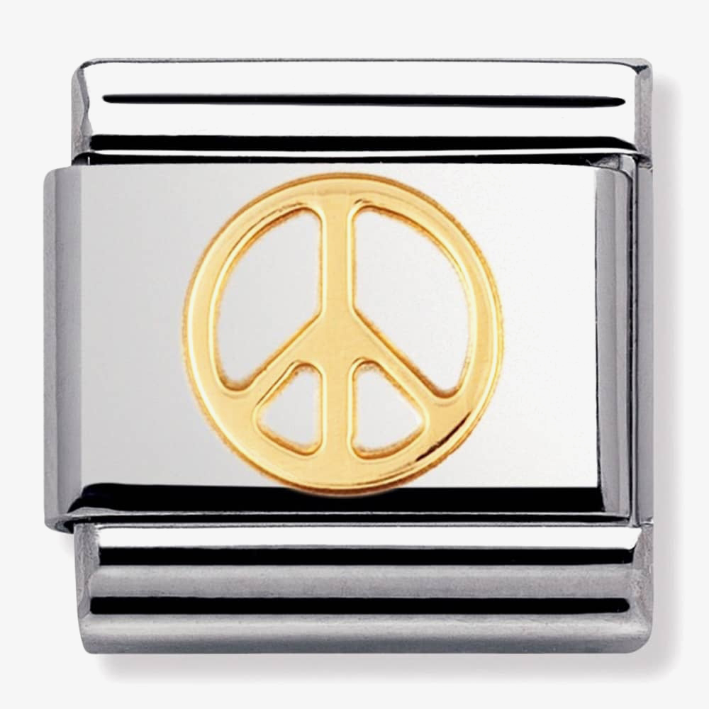 Nomination CLASSIC Gold Love Peace Charm 030116/06 from Nomination