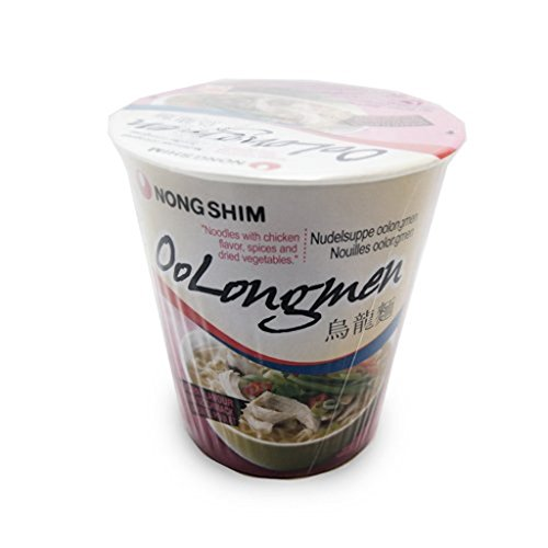 Korean Nong Shim Oolongmen Chicken Flavour Noodle Soup - 12 Cups from Nong Shim