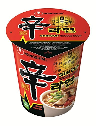Nong Shim Shin Cup Noodle Soup - 12 Cups from Nong Shim