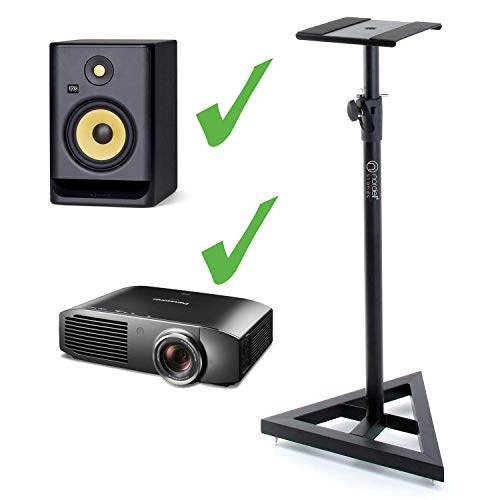 Nordell' Premium Floor Speaker Stand (Single) for Studio Monitors and Hi-Fi Loudspeakers - Create Truer Mixes with Optimum Loudspeaker/Monitor Height and Positioning with Rotating Plate for Speakers from Nordell