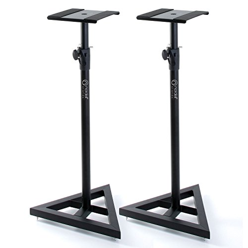 Nordell' Premium Floor Speaker Stand (Pair) for Studio Monitors and Hi-Fi Loudspeakers - Create Truer Mixes with Optimum Loudspeaker/Monitor Height and Positioning with Rotating Plate for Speakers from Nordell