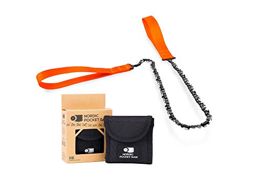 Nordic Pocket Saw - Original - Compact Folding Camping Chainsaw. Survival Handsaw kit with Nylon Pouch for Hunting, Hiking and Outdoors from Nordic Pocket Saw