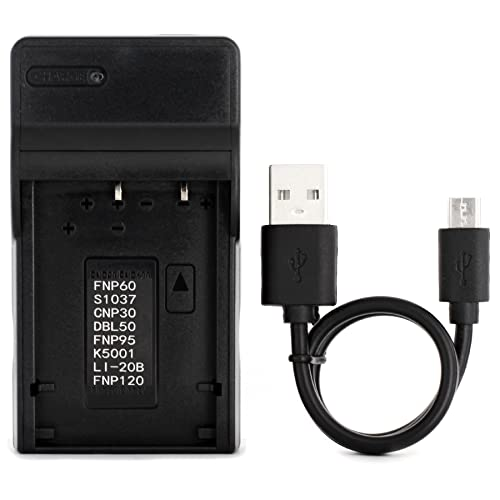 D-Li2 Ultra Slim USB Charger for Pentax OPTIO 330, Optio 330RS, OPTIO 430, Optio 430RS Camera from Norifon