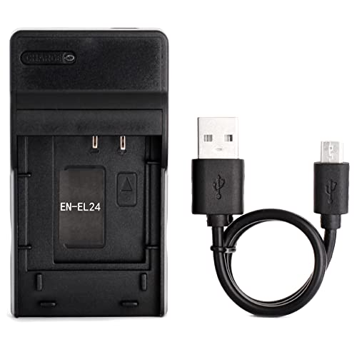 EN-EL24 Ultra Slim USB Charger for Nikon 1 J5 Camera from Norifon