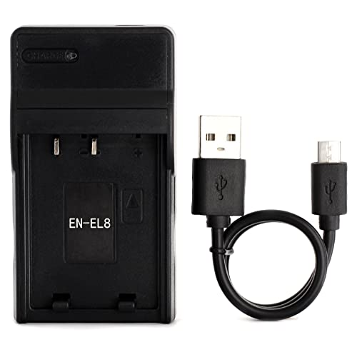 EN-EL8 Ultra Slim USB Charger for Nikon Coolpix S52c, P1, P2, S1, S2, S3, S5, S50, S50c, S51, S51c, S52, S6, S7, S7c, S8, S9 Camera from Norifon