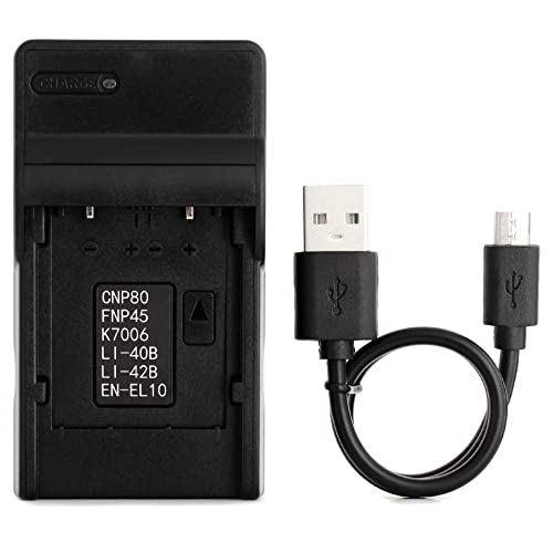 LI-40B USB Charger for Olympus D-720, FE-230, FE-340, FE-280, FE-20, Stylus 710, 790SW, 770SW, 7010, 760, 720SW, VR-320, VR-310, X-935, X-905 Digital Camera and More from Norifon