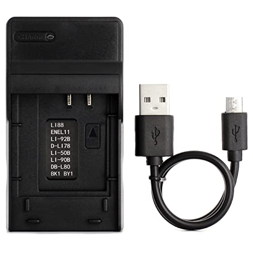 LI-60B Ultra Slim USB Charger for Olympus FE-370 Camera from Norifon