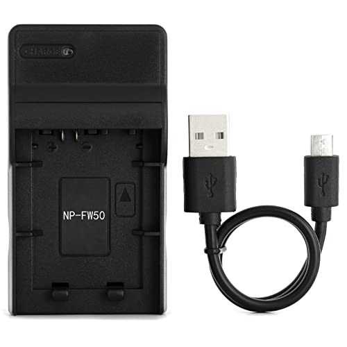 NP-FW50 USB Charger for Sony Alpha 6000, 5000, 5100, ILCE-6000, ILCE-7, NEX-5T, NEX-6, NEX-5R, NEX-7, NEX-5, NEX-3N, NEX-3, NEX-C3, SLT-A37 Digital Camera and More from Norifon