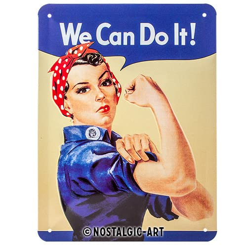 Nostalgic Art 26120 USA We CAN do it, Tin Plate Sign 15 x 20 CM from Nostalgic Art