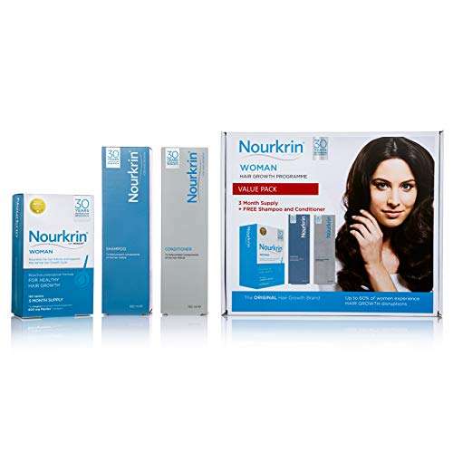 Nourkrin Woman Value Pack 180 Tablets,Shampoo and Conditioner from Nourkrin
