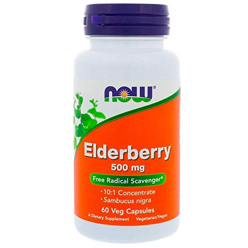 Elderberry Extract, 500 mg, 60 Vcaps - Now Foods - UK Seller from Now Foods