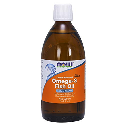 Omega-3 Fish Oil, Lemon Flavoured, 16.9 fl oz (500 ml) from Now Foods