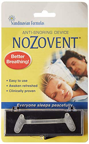 Nozovent Anti Snoring Device For Peaceful Sleep by Scandinavian Formulas - 1 ea from Nozovent