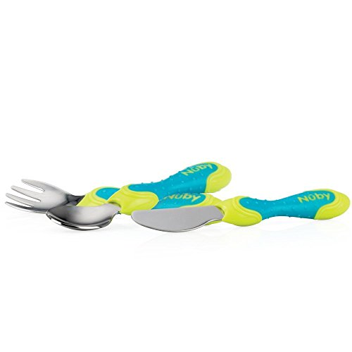 Nûby Fork/Spoon/Knife Stainless Steel Cutlery Set 12 + Months from Nuby