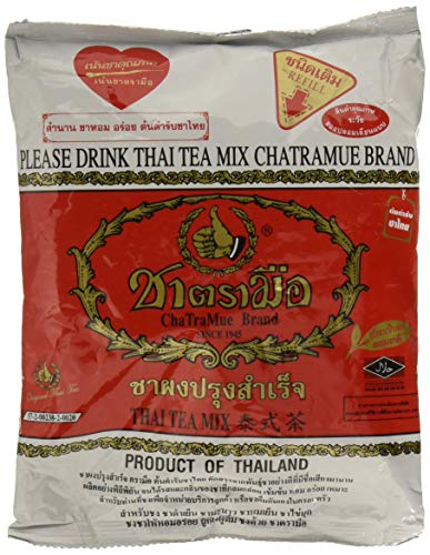The Original Thai Iced Tea Mix ~ Number One Brand Imported From Thailand! 400g Bag Great for Restaurants That Want to Serve Authentic and High Quality Thai Iced Teas. from Number One