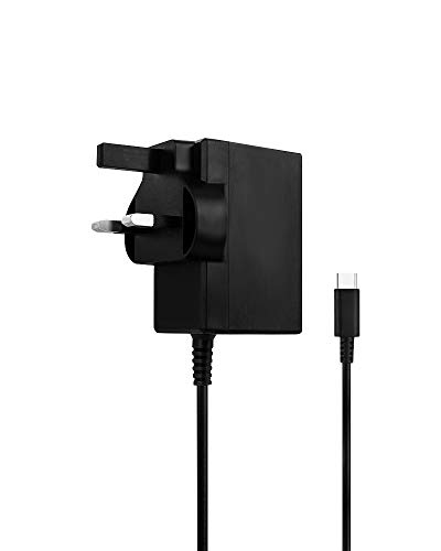 Nintendo Switch charger - Fast charging AC Adaptor with USB C charger connection (Also Compatible with Samsung S*, Google Nexus & Pixel, Oneplus, Huawei) from NUMSKULL