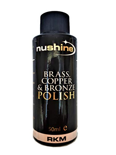 Nushine Brass, Copper & Bronze Polish 50ml - Ecofriendly, Solvent free & contains anti tarnish agent to delay future tarnish from Nushine