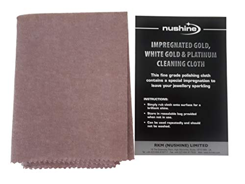 Nushine Gold, White Gold & Platinum Cleaning Cloth (LARGE 44 x 31.5cm) - Contains Special Impregnation from Nushine