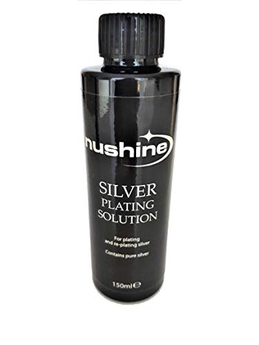 Nushine Silver Plating Solution 150ml - permanently plate PURE SILVER onto worn silver, brass, copper and bronze (eco friendly formula) from Nushine