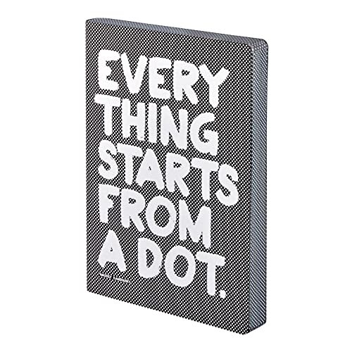 "Nuuna Graphic L""Everything Starts from a Dot"" Smooth Bonded Leather Notebook - Black from Nuuna"