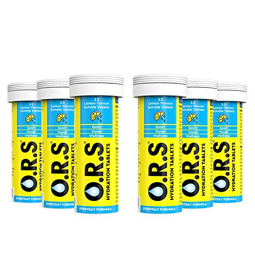 O.R.S Hydration Electrolyte Tablets Lemon  6 Tubes of 12 from O.R.S Hydration Tablets