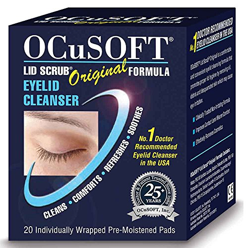 New - Ocusoft Lid Scrub Original Eyelid Cleanser - 20 Individually Wrapped Pre-Moistened Pads. from OCuSOFT