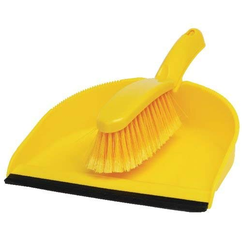 Professional Dustpan and Brush Set - Yellow from OD