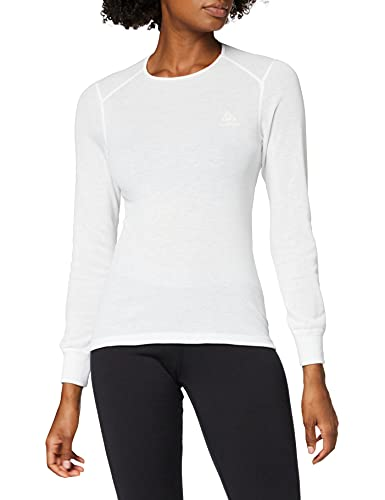ODLO Women's L/S Crew Neck ACTIVE Originals WAR Undershirt, White, 2X-Large from ODLO