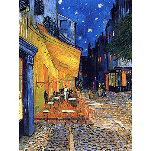 VINCENT VAN GOGH CAFE TERRACE PLACE DU FORUM ARLES 1888 OLD ART PRINT 12x16 inch 30x40cm 2782OM from OLD MASTERS AND CLASSICS