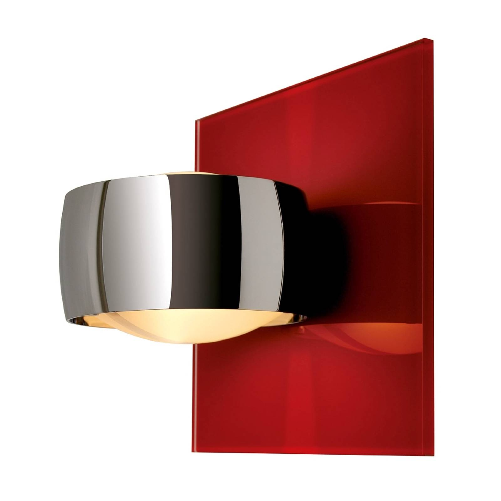 Decorative wall light GRACE UNLIMITED red/chrome from Oligo