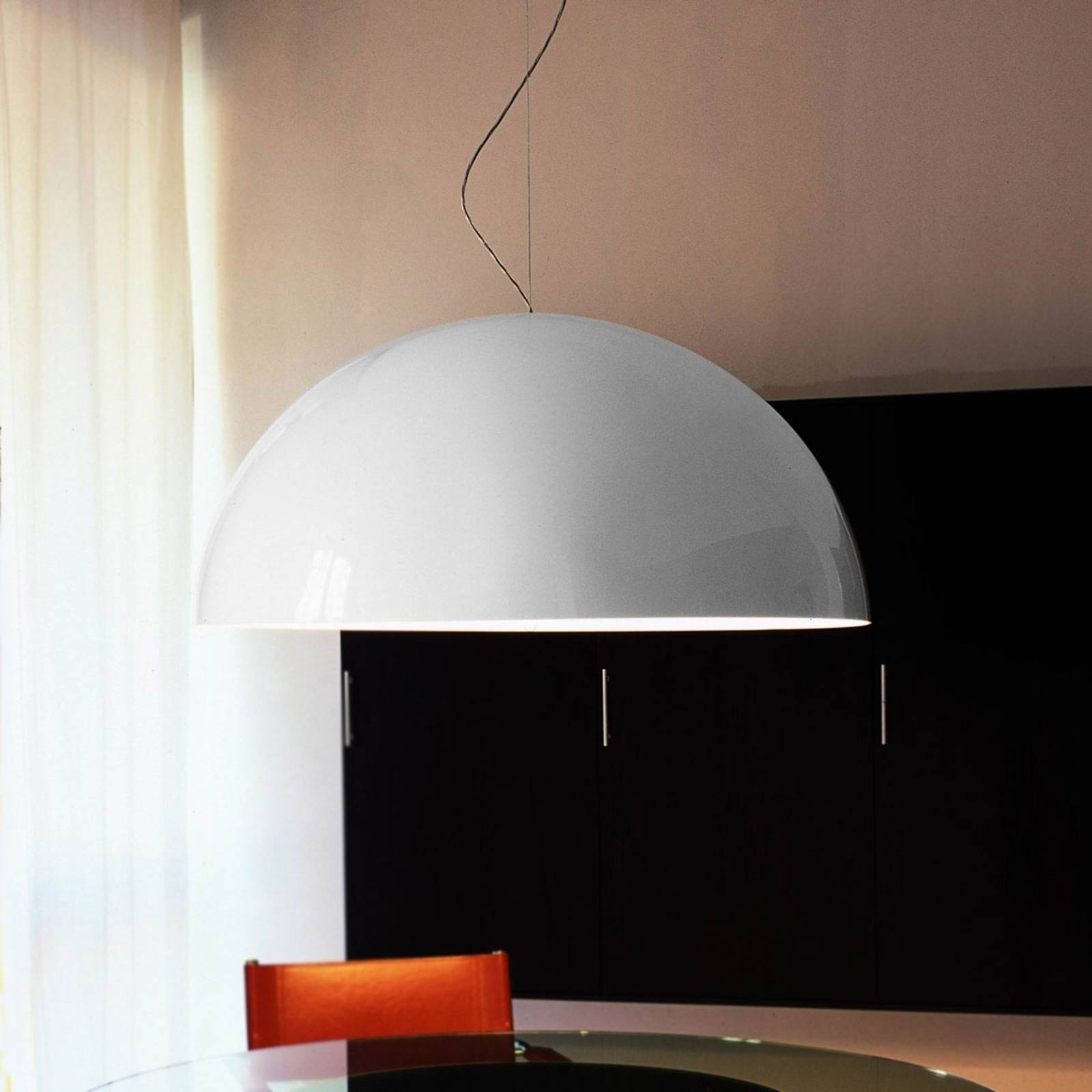 Sonora - opal white hanging light from Oluce