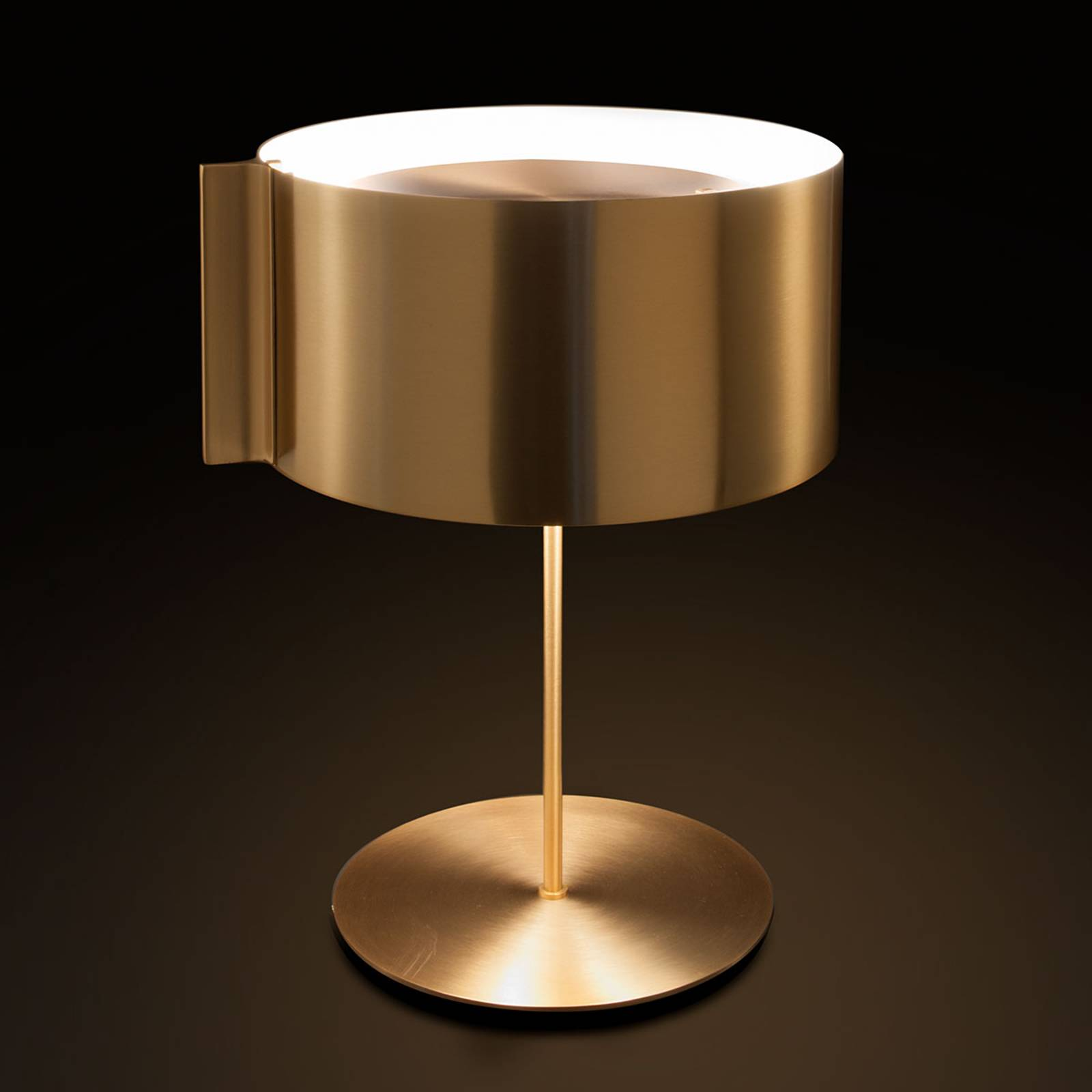 Switch - golden designer table lamp from Oluce