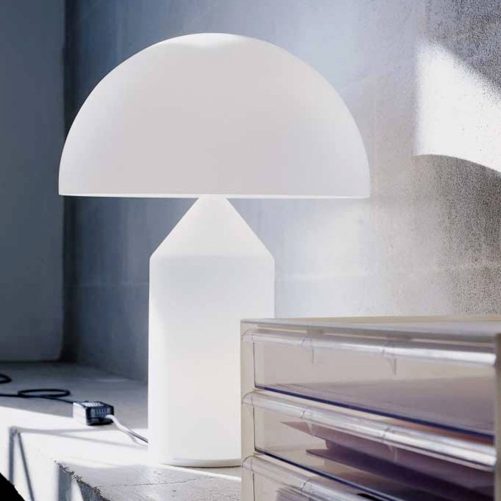 Table lamp Atollo with Murano glass, 70 cm from Oluce