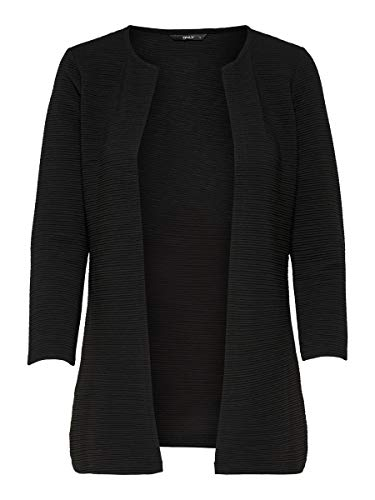 ONLY Women's onlLECO 7/8 LONG CARDIGAN JRS NOOS Cardigan, Black (Black), S from ONLY