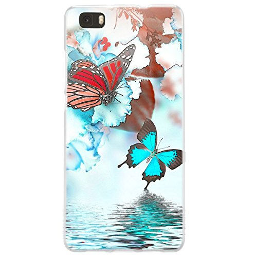 Ooh. Color 025603 _ NFL036 Romantic Orchid Flower Girl Pattern TPU Soft Silicone Bumper Case for Huaweii P8 Lite Clear from OOH!COLOR