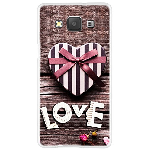 OOH!COLOR 025610 _ girl pattern soft TPU Silicone Bumper Case for Samsung Galaxy OVA001 Love Romantic Flower A5 A500 Clear from OOH!COLOR