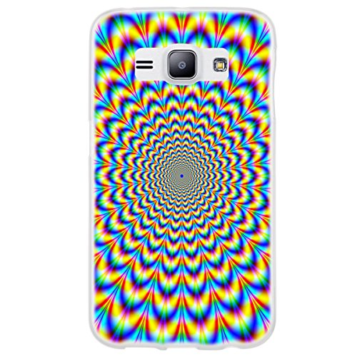 OOH!COLOR 025627 _ MAB024 Magic with Pattern Soft TPU Silicone Bumper Case for Samsung Galaxy J1 Clear from OOH!COLOR