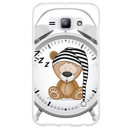 OOH!COLOR 025627 _ OKI001 Fun Teddy Bear with pattern soft TPU Silicone Bumper Case for Samsung Galaxy J1 Clear from OOH!COLOR