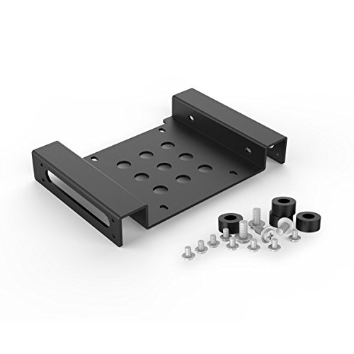"ORICO Aluminium 2.5"" / 3.5"" Hard Drive Mounting Adapter for 1x 2.5 inch SSD/HDD to 5.25 Inch PC Bay - Black from ORICO"
