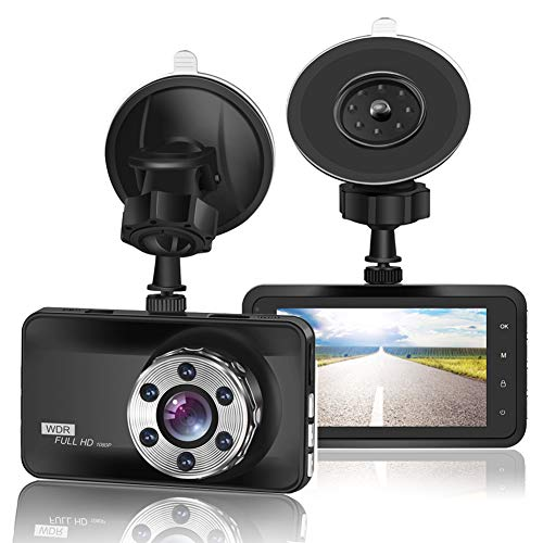 "ORSKEY Dash Cam 1080P Full HD Car Camera DVR Dashboard Camera Video Recorder In Car Camera Dashcam for Cars 170 Wide Angle WDR with 3.0"" LCD Display Night Vision Motion Detection and G-sensor from ORSKEY"