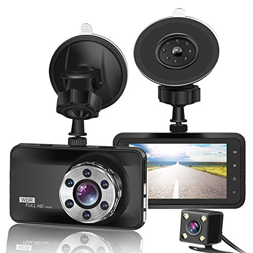 "ORSKEY Dash Cam Front and Rear 1080P Full HD Dual Dash Camera In Car Camera Dashboard Camera Dashcam for Cars 170 Wide Angle HDR with 3.0"" LCD Display Night Vision Motion Detection and G-sensor from ORSKEY"