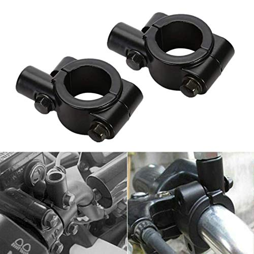 "OSAN Universal Motorcycle Handlebar Mirror Mount 10mm 7/8"" Black Aluminum Clamp from OSAN"