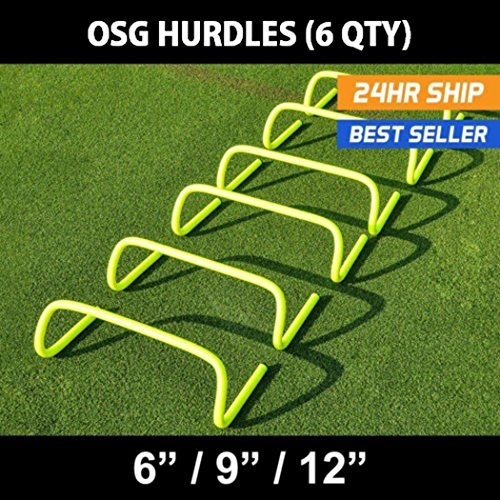 OSG Speed/Agility Training Hurdles [pack Of 6] Size 12 Inch from OSG