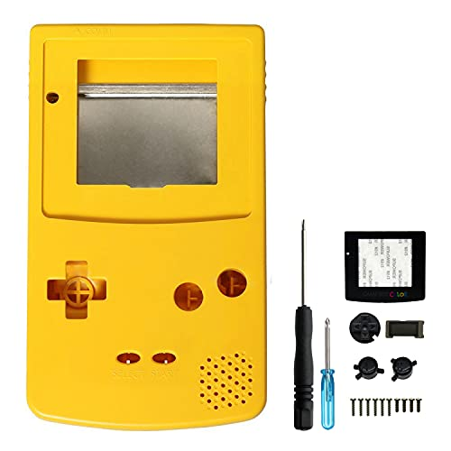 OSTENT Full Housing Shell Case Cover Replacement Compatible for Nintendo GBC Gameboy Color Console - Color Yellow from OSTENT