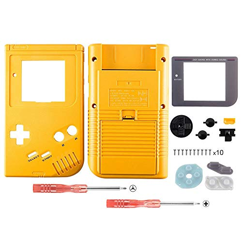 OSTENT Full Housing Shell Case Cover Replacement for Nintendo GB Game Boy Console Color Yellow from OSTENT