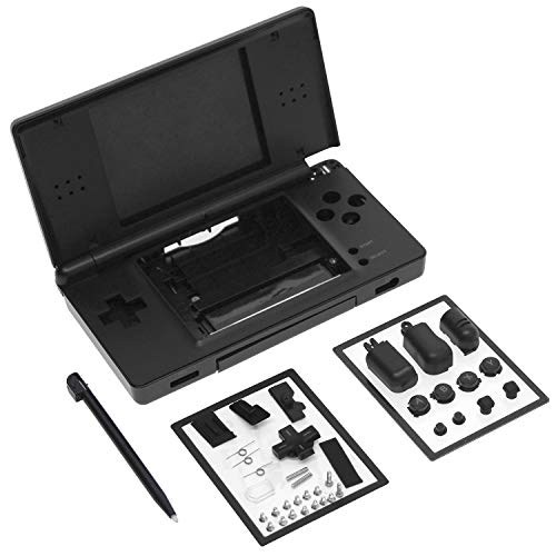 OSTENT Full Repair Parts Replacement Housing Shell Case Kit Compatible for Nintendo DS Lite NDSL Color Black from OSTENT