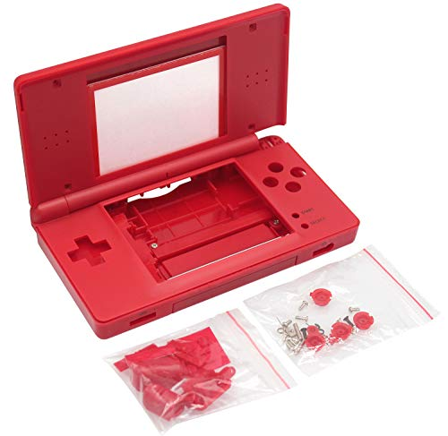 OSTENT Full Repair Parts Replacement Housing Shell Case Kit Compatible for Nintendo DS Lite NDSL Style Mario Color Red from OSTENT
